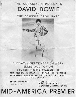 Guerrillamonster / Bowie Memphis / Ziggy Memphis 72